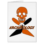 Skull and Crossed Trowels Archaeology Greeting Cards