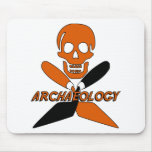 Skull and Crossed Trowels Archaeology Mousepads
