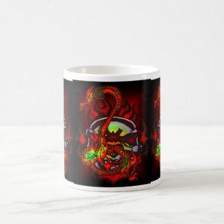 Skull and Dragon Cup Basic White Mug