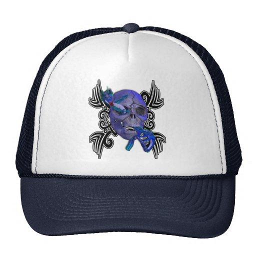 Skull and Dragon Tattoo Hat