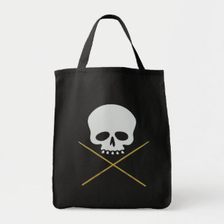 Skull and Drumstick Crossbones Tote Bag