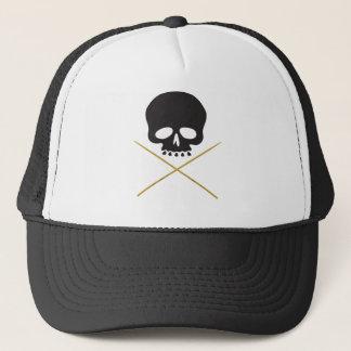 Skull and Drumstick Crossbones Trucker Hat