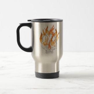 Skull and Fire Coffee Mug