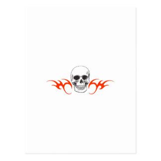 SKULL AND FLAMES POST CARD