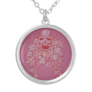 Skull and Flower Necklace