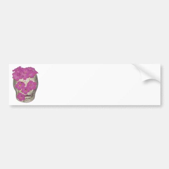 Skull and Flowers Bumper Sticker