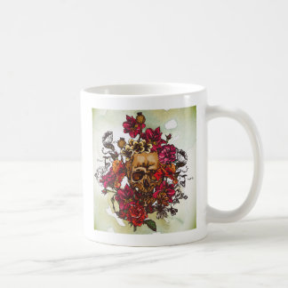 Skull And Flowers Day Of The Dead Mugs