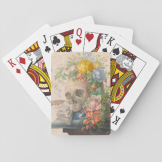 Skull and Flowers 'Gothic' Playing Cards