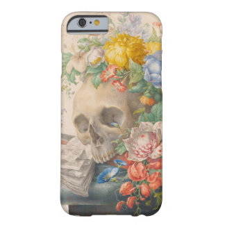 Skull and Flowers iPhone 6/6s, 'Barely There' Case