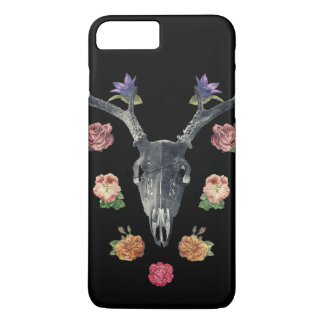 Skull and flowers iPhone 7 plus case