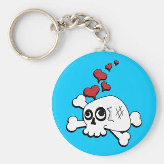 Skull and Hearts Keychain