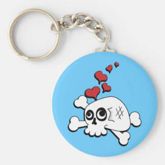 Skull and Hearts Keychains