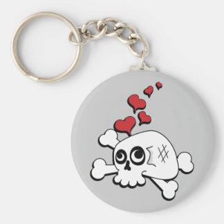 Skull and Hearts Key Chain