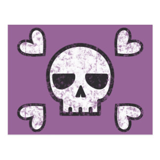 Skull and Hearts Postcard