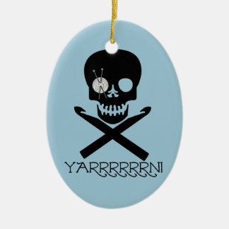 Skull and Hooks Christmas Ornament