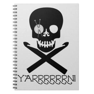 Skull and Hooks Notebook