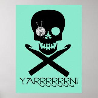 Skull and Hooks Poster