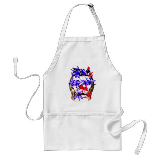 Skull and Hyacinth Flowers Apron