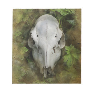 Skull and Leaves Notepad