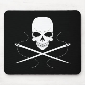 Skull and Needles Mouse Pad