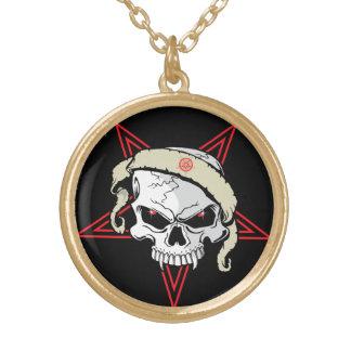 Skull and Pentagram Necklace