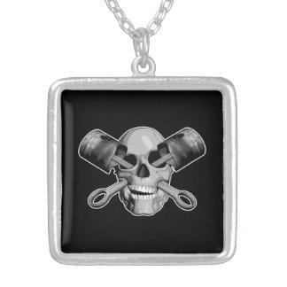 Skull and Pistons v2 Custom Necklace