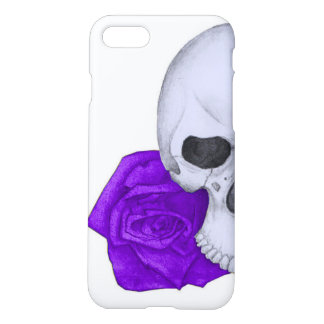 Skull and Purple Roses iPhone 8/7 Case