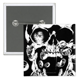Skull and Rings 15 Cm Square Badge
