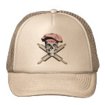 Skull and Rolling Pins: Pink Mesh Hats