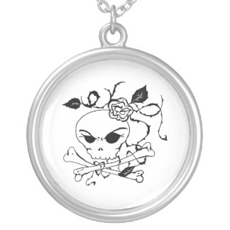 skull and rose custom jewelry