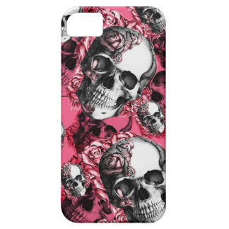 Skull and Roses Barely There I phone Case iPhone 5 Case