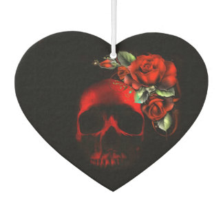 Skull and roses car air freshener