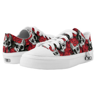 Skull and roses low tops