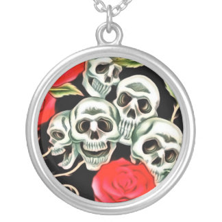 Skull and Roses Necklace