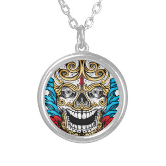 SKULL AND ROSES NECKLACE by THE ART DUMP
