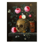 Skull and Roses Postcard