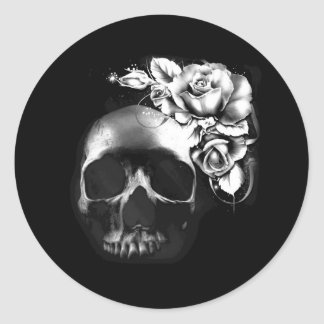 Skull and roses stickers