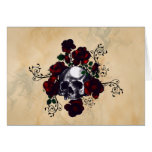 Skull and Roses Tattoo Style Goth Art Cards