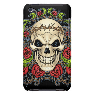 Skull and Roses with Crown Of Thorns by Al Rio Barely There iPod Cases