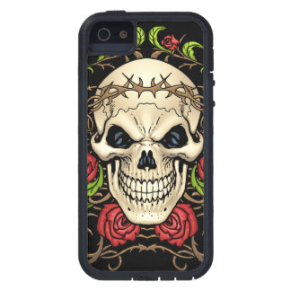 Skull and Roses with Crown Of Thorns by Al Rio iPhone 5 Cases