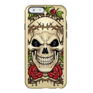 Skull and Roses with Crown Of Thorns by Al Rio Incipio Feather® Shine iPhone 6 Case