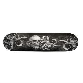 Skull and Scroll sketch deck 4 Custom Skate Board