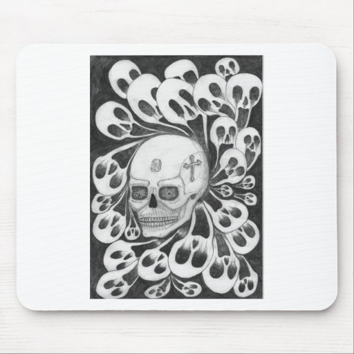Skull and souls images mouse pad