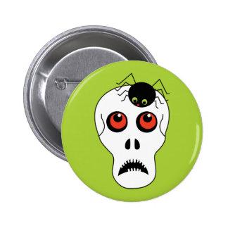 Skull and Spider Halloween 6 Cm Round Badge