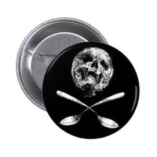 Skull and Spoons 6 Cm Round Badge