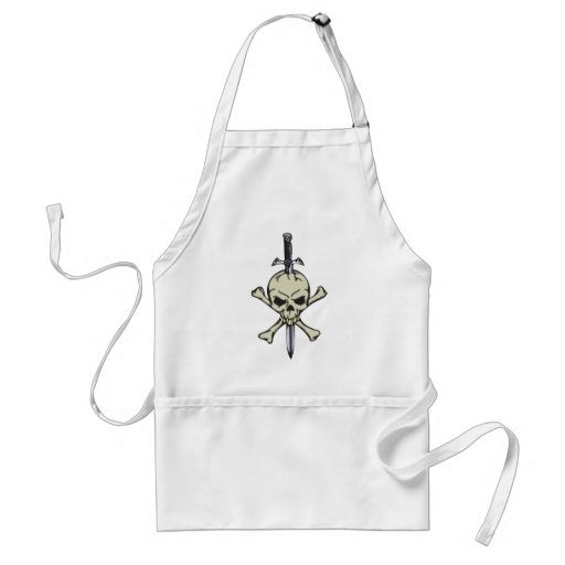 Skull and Sword Apron