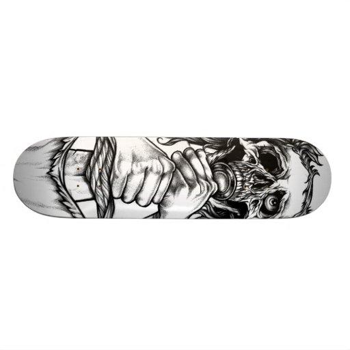 Skull and Sword Skate Deck