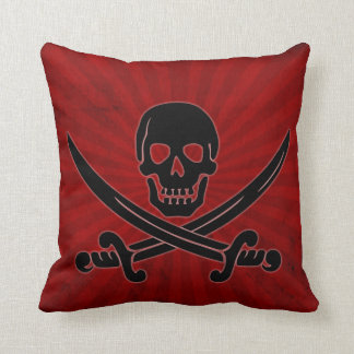 Skull and Swords Throw Pillow