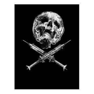 Skull and Syringes Postcard