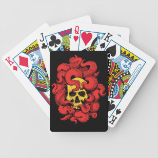 Skull and Tentacle Playing Cards